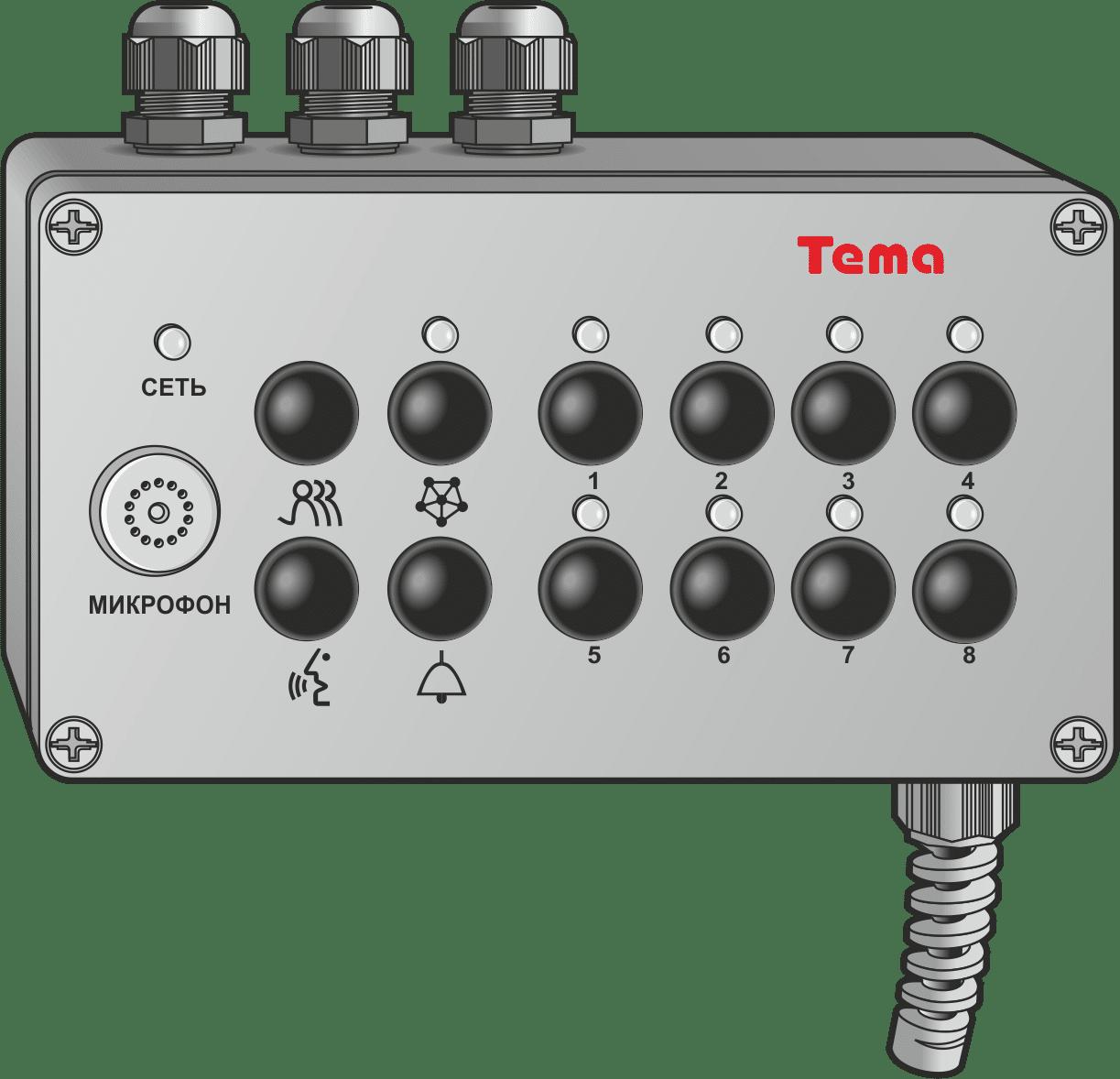 Диспетчерский пульт Ряд Tema-Ax1.62