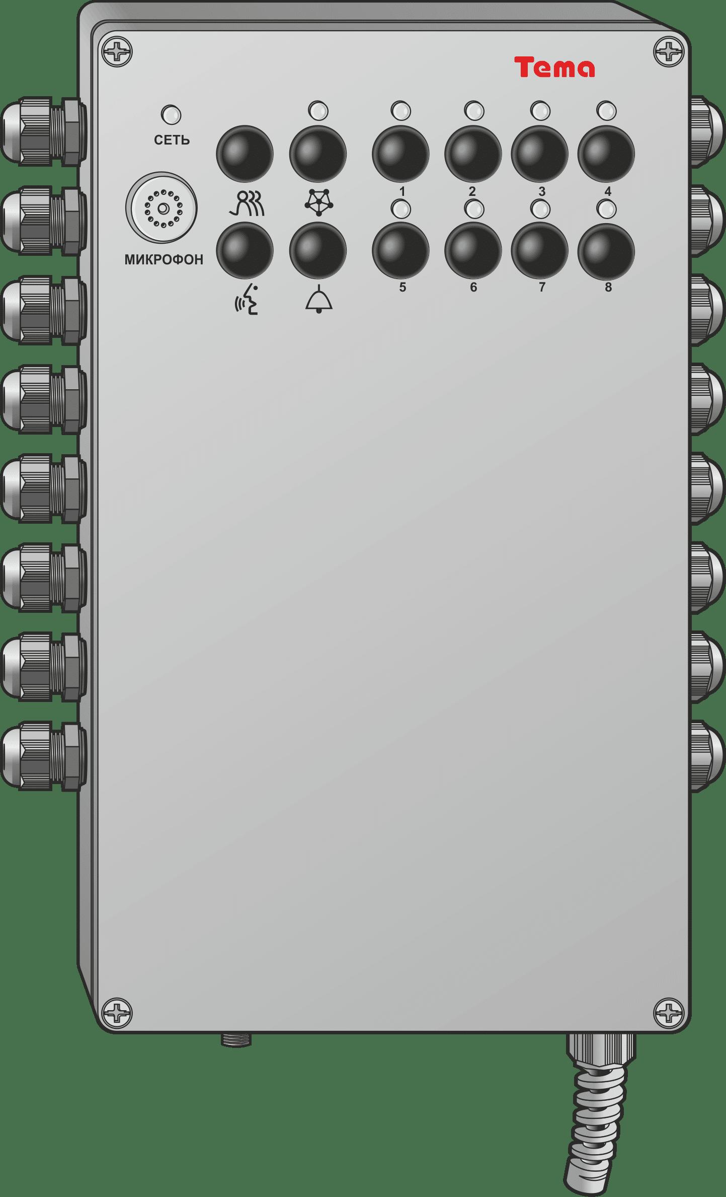 Автоинформатор, Согласующее устройство, Трансляционный усилитель Ряд Tema-MT8x.75
