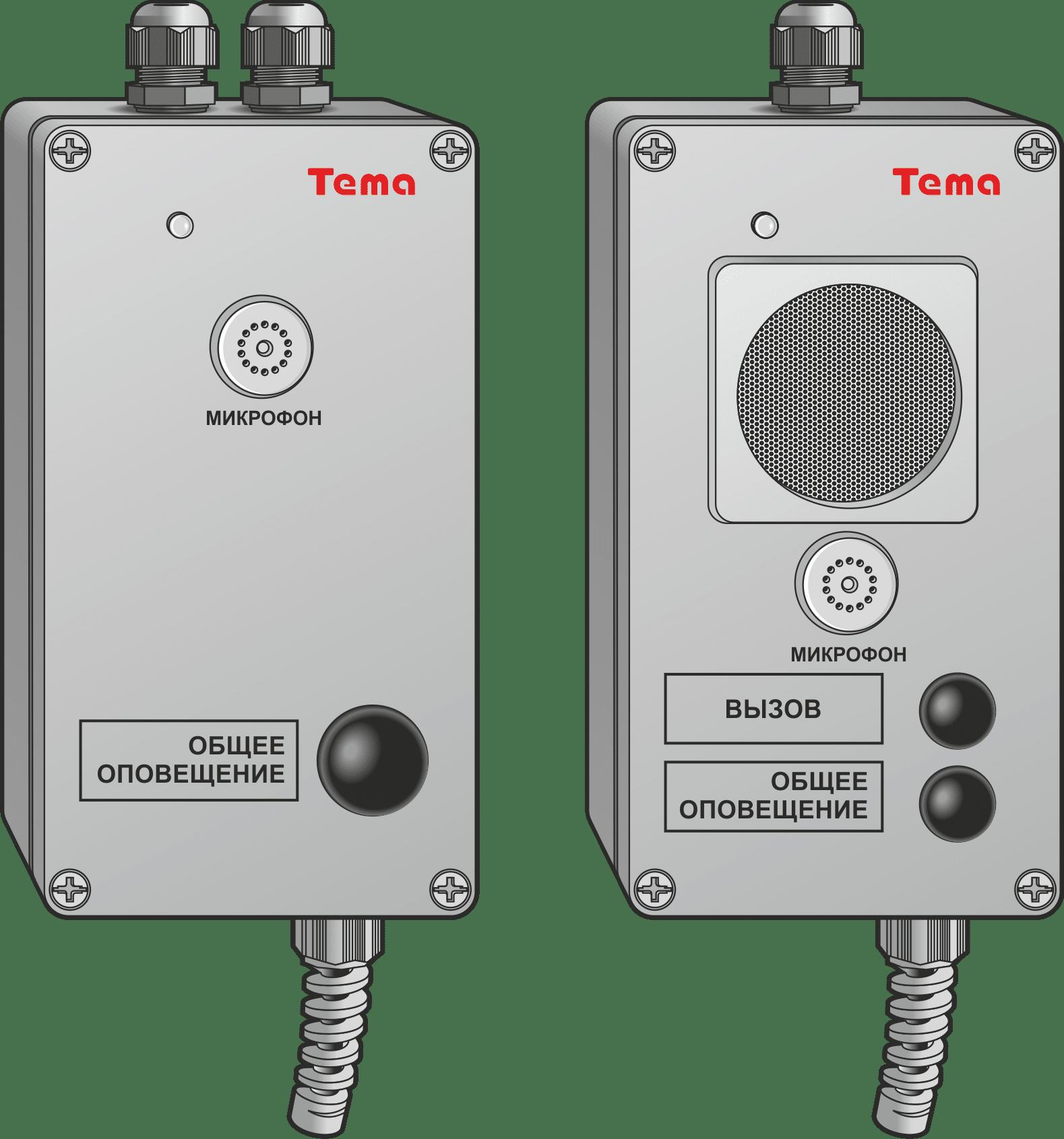 Переговорное устройство Ряд Tema-AC1x.x(0/4)